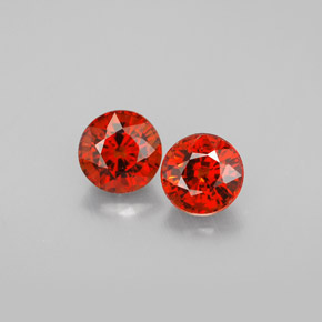 Buy 1.89ct Red Orange Spessartite Garnet 5.36mm  from GemSelect (Product ID: 301951)