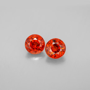 Buy 1.74 ct Red Orange Spessartite Garnet 5.38 mm  from GemSelect (Product ID: 301954)