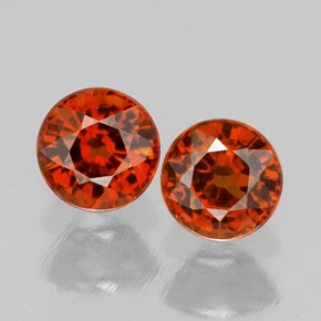 Buy 1.69 ct Red Orange Spessartite Garnet 5.27 mm  from GemSelect (Product ID: 308328)