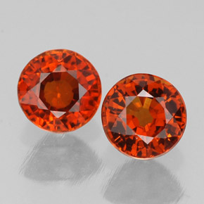 Buy 1.65 ct Red Orange Spessartite Garnet 5.27 mm  from GemSelect (Product ID: 308330)