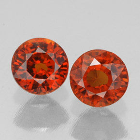 Buy 1.68 ct Red Orange Spessartite Garnet 5.29 mm  from GemSelect (Product ID: 308336)