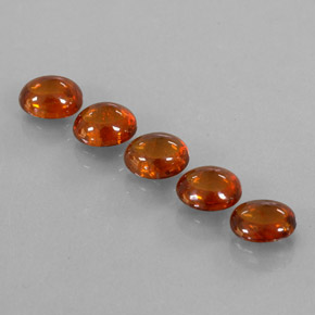 Orange Spessartite Garnet Gem - 0.9ct Oval Cabochon (ID: 310638)