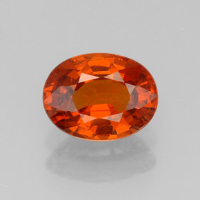 1.7ct Oval Facet Red Orange Spessartite Garnet Gem (ID: 327755)