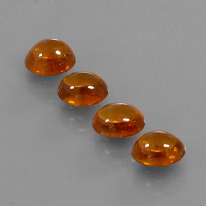 thumb image of 1.3ct Oval Cabochon Orange Spessartite Garnet (ID: 329616)