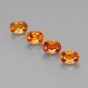 Medium-Dark Orange Granate Espesartina Gema - 0.8ct Forma ovalada (ID: 362170)