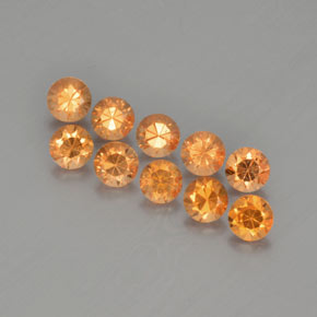 thumb image of 0.2ct Diamond-Cut Orange Spessartite Garnet (ID: 367750)