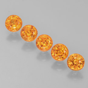 Bright Orange Spessartite Garnet Gem - 0.4ct Round Facet (ID: 368280)