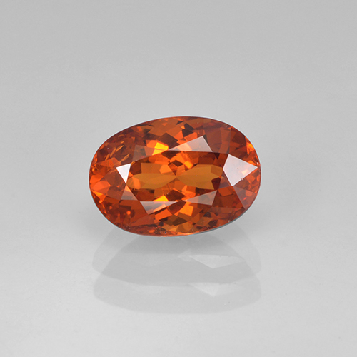 thumb image of 1.4ct Oval Facet Orange Spessartite Garnet (ID: 368673)