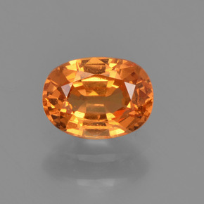 0.8ct Oval Facet Orange Spessartite Garnet Gem (ID: 368714)