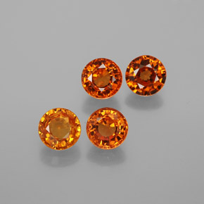 thumb image of 0.7ct Round Facet Red Orange Spessartite Garnet (ID: 378722)