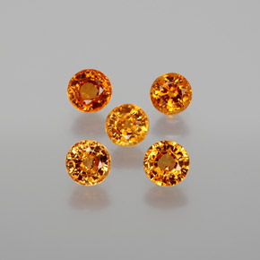 Orange Spessartite Garnet Gem - 0.5ct Round Facet (ID: 378916)