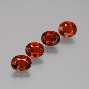 thumb image of 0.7ct Oval Facet Red Orange Spessartite Garnet (ID: 388296)