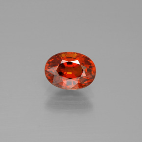 1.3ct Oval Facet Red Orange Spessartite Garnet Gem (ID: 388700)