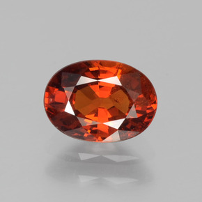 Bright Red Granate Espesartina Gema - 1.2ct Forma ovalada (ID: 388733)