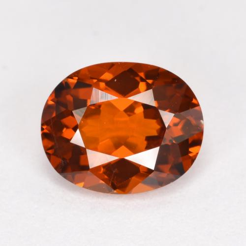 thumb image of 1.3ct Oval Facet Red Orange Spessartite Garnet (ID: 388910)
