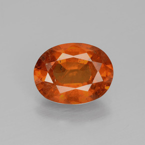 Amber Orange Spessartite Garnet Gem - 4ct Oval Facet (ID: 390531)