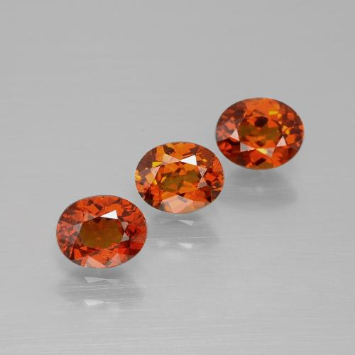 Dark Orange Granato spessartite Gem - 0.6ct Ovale sfaccettato (ID: 395454)