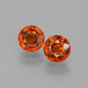 thumb image of 0.7ct Round Facet Red Orange Spessartite Garnet (ID: 401576)