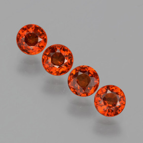 thumb image of 0.5ct Round Facet Orange Spessartite Garnet (ID: 401588)