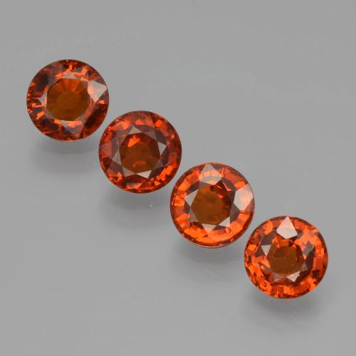 Orange Spessartite Garnet Gem - 0.6ct Round Facet (ID: 401590)