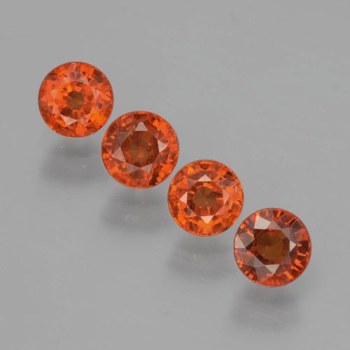 Orange Spessartite Garnet Gem - 0.5ct Round Facet (ID: 401597)