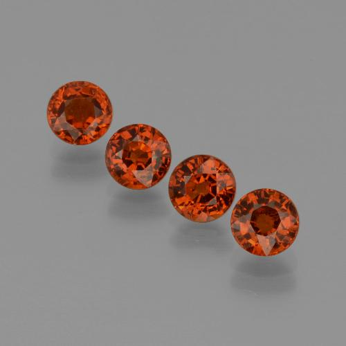Currant Red Granate Espesartina Gema - 0.8ct Faceta Redonda (ID: 401660)