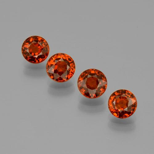 Orange Spessartite Garnet Gem - 0.8ct Round Facet (ID: 401662)