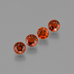 Orange Spessartite Garnet Gem - 0.8ct Round Facet (ID: 401663)