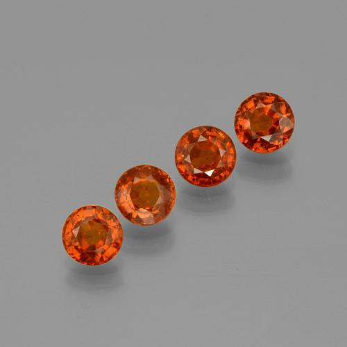 0.6ct Round Facet Orange Spessartite Garnet Gem (ID: 401667)