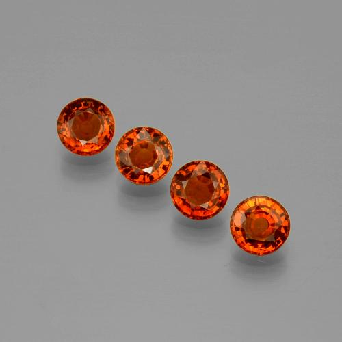 thumb image of 0.6ct Round Facet Orange Spessartite Garnet (ID: 401668)