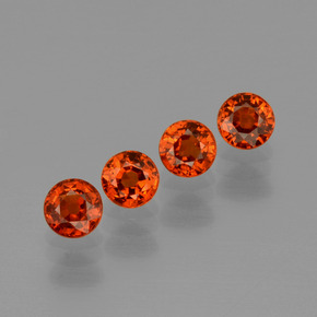 thumb image of 0.6ct Round Facet Orange Spessartite Garnet (ID: 401821)