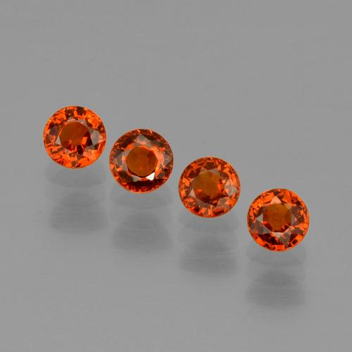 Orange Spessartite Garnet Gem - 0.5ct Round Facet (ID: 401822)