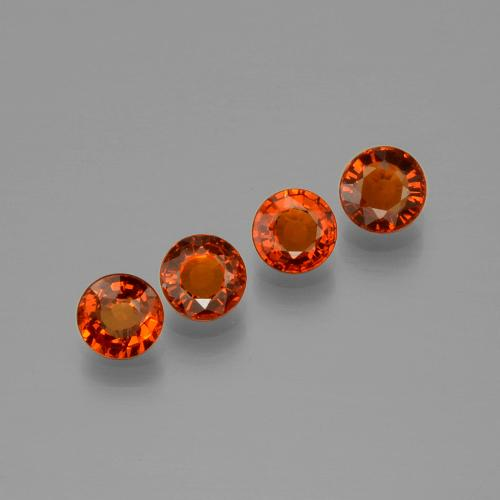 Candy Red Spessartite Garnet Gem - 0.5ct Round Facet (ID: 401857)