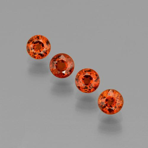 Medium Orange Granato spessartite Gem - 0.5ct Sfaccettatura rotonda (ID: 401860)