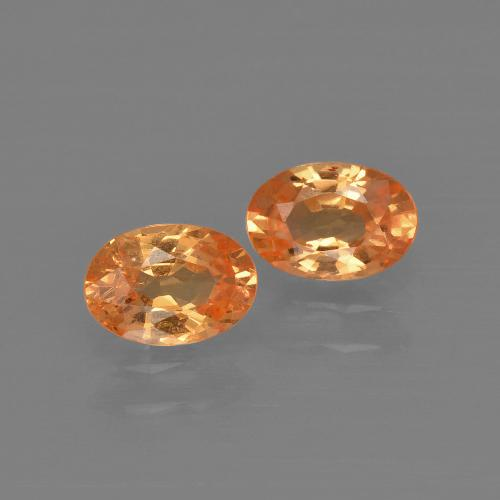 thumb image of 0.7ct Oval Facet Orange Spessartite Garnet (ID: 402046)