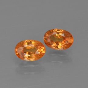 thumb image of 0.7ct Oval Facet Orange Spessartite Garnet (ID: 402048)