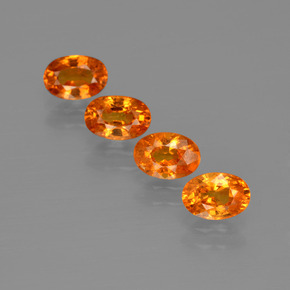 Orange Spessartite Garnet Gem - 0.8ct Oval Facet (ID: 402057)