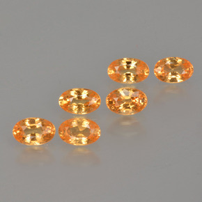 Orange Spessartite Garnet Gem - 0.4ct Oval Facet (ID: 402256)