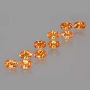 Orange Spessartite Garnet Gem - 0.4ct Oval Facet (ID: 402260)