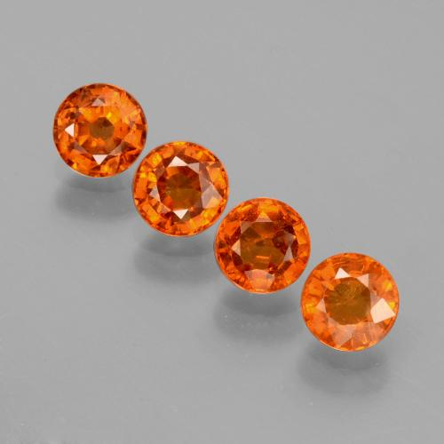 Medium Orange Granato spessartite Gem - 0.5ct Sfaccettatura rotonda (ID: 402381)