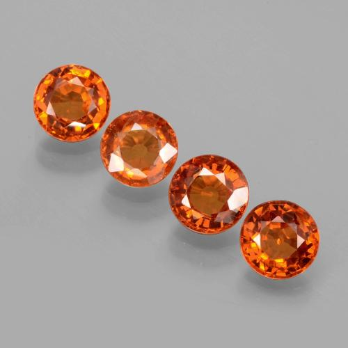 Orange Spessartite Garnet Gem - 0.6ct Round Facet (ID: 402384)