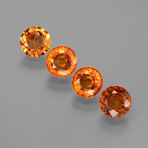 Orange Spessartite Garnet Gem - 0.5ct Round Facet (ID: 402387)