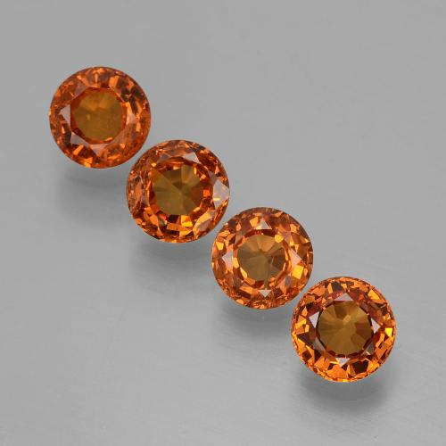 Orange Spessartite Garnet Gem - 0.4ct Round Facet (ID: 407234)