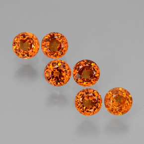 thumb image of 0.4ct Round Facet Orange Spessartite Garnet (ID: 407237)