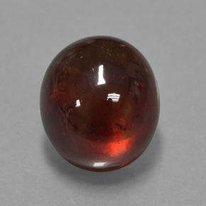 Red Orange Spessartite Garnet Gem - 14.2ct Oval Cabochon (ID: 424301)