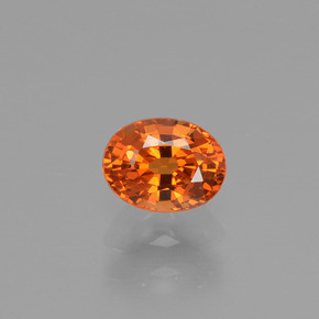 thumb image of 0.8ct Oval Facet Orange Spessartite Garnet (ID: 425765)