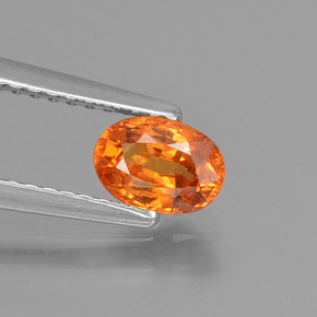 thumb image of 0.8ct Oval Facet Orange Spessartite Garnet (ID: 425768)