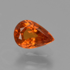 thumb image of 0.8ct Pear Facet Orange Spessartite Garnet (ID: 426045)