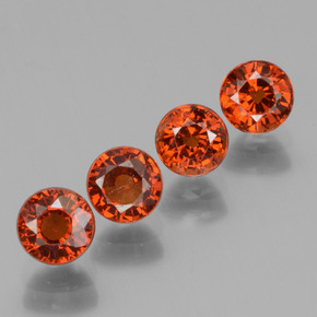 0.8ct Round Facet Orange Spessartite Garnet Gem (ID: 436351)