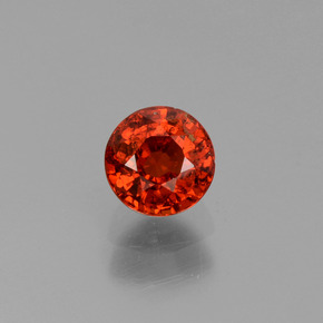 0.66 ct Round Facet Orange Spessartite Garnet Gemstone 4.70 mm  (Product ID: 436616)